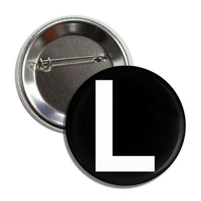 letter l capital black white button