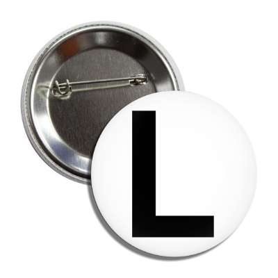 letter l capital white black button