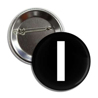letter l lower case black white button