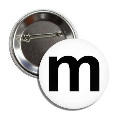 letter m lower case white black button