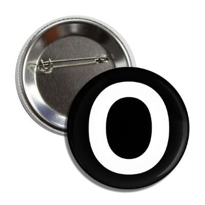 letter o capital black white button