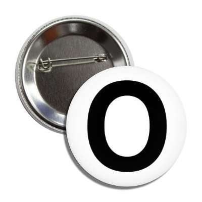 letter o capital white black button