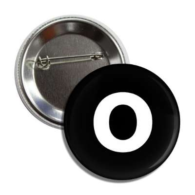 letter o lower case black white button