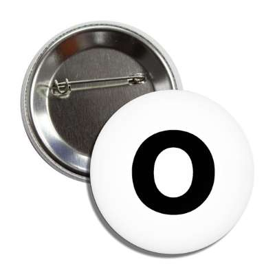 letter o lower case white black button