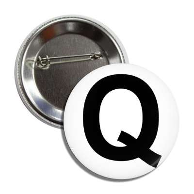 letter q capital white black button