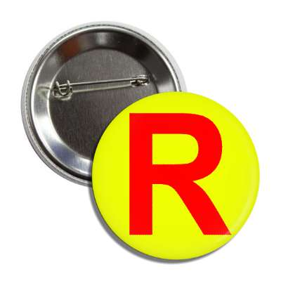 letter r capital yellow red button