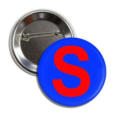 letter s capital medium blue red button