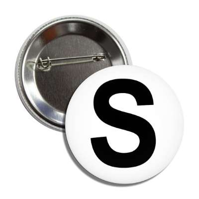 letter s capital white black button