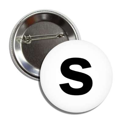 letter s lower case white black button