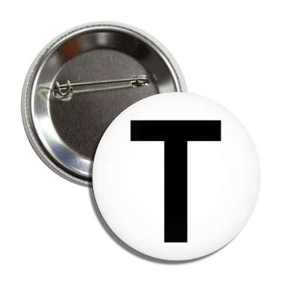 letter t capital white black button
