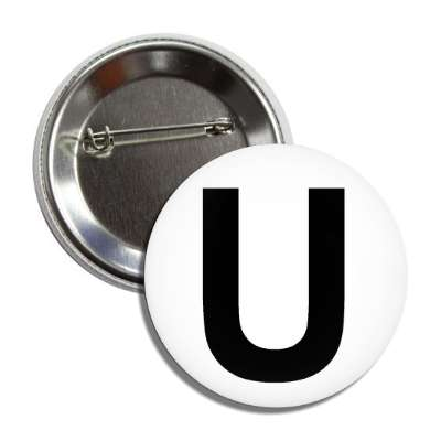 letter u capital white black button