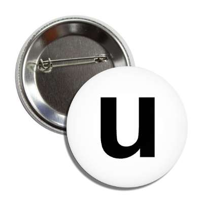 letter u lower case white black button