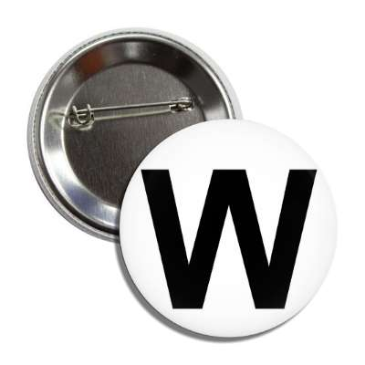 letter w capital white black button