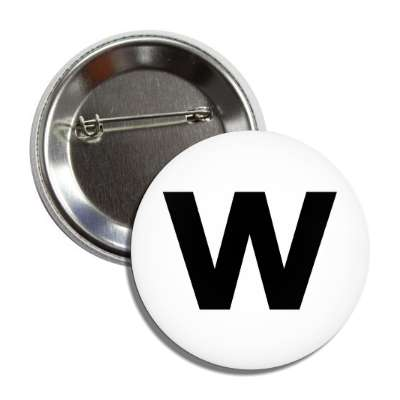 letter w lower case white black button
