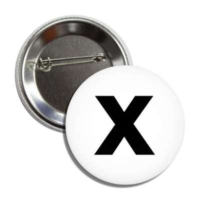 letter x lower case white black button