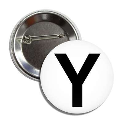 letter y capital white black button