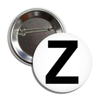 letter z capital white black button