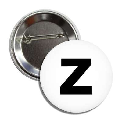 letter z lower case white black button