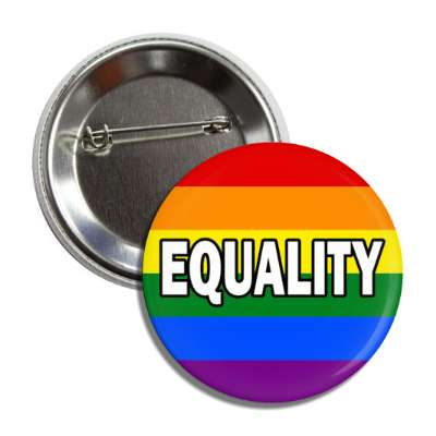lgbt equality rainbow flag button