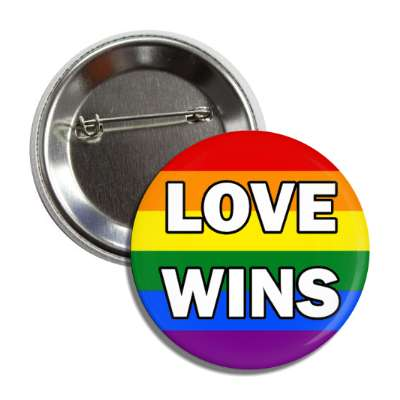lgbt love wins rainbow flag button