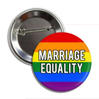 lgbt marriage equality rainbow flag button