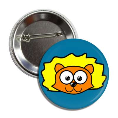 lion cute cartoon button
