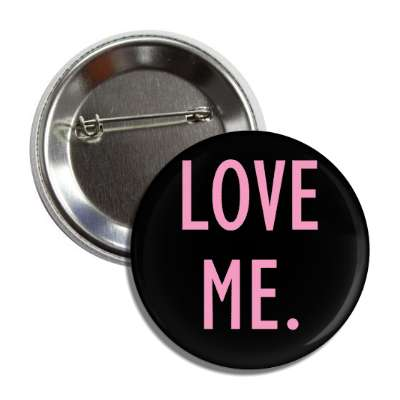 love me black pink button