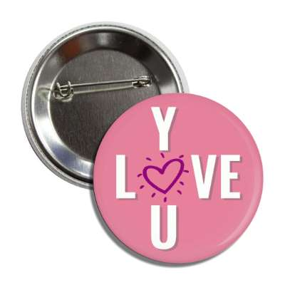 love you crossword pink button