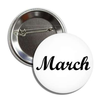march third month calendar button