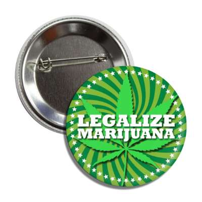 marijuana legalize green swirl button