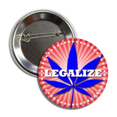 marijuana legalize red white blue rays button