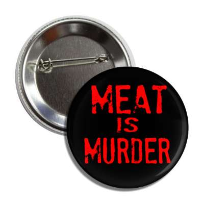 meat is murder stamp black red button