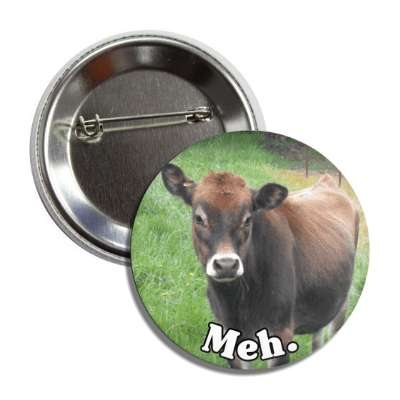 meh bored cow button