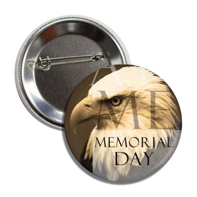 memorial day eagle face modern button