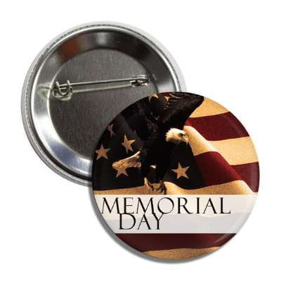 memorial day flag vintage button