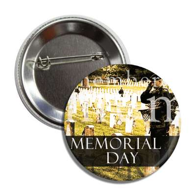 memorial day gravestones button