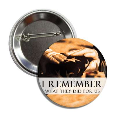 memorial day i remember what they did for us flag fold button