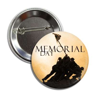 memorial day marine corps war memorial sepia button