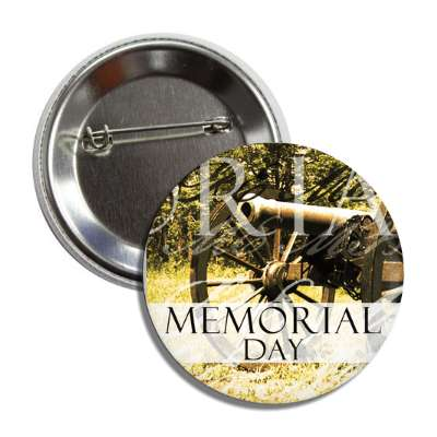 memorial day vintage cannon button