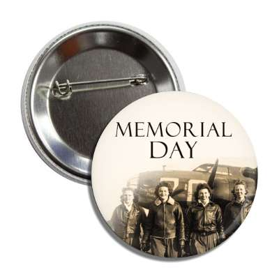 memorial day vintage pilots button