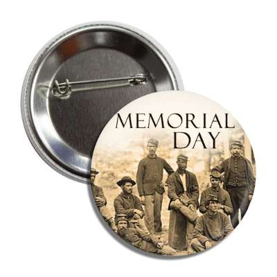 memorial day vintage war sepia button