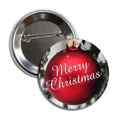 merry christmas classic red ornament button