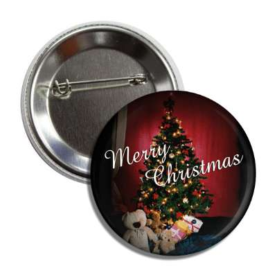 merry christmas gifts tree classic button