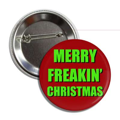 merry freakin christmas red green button
