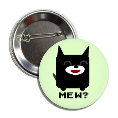 mew cartoon cat button