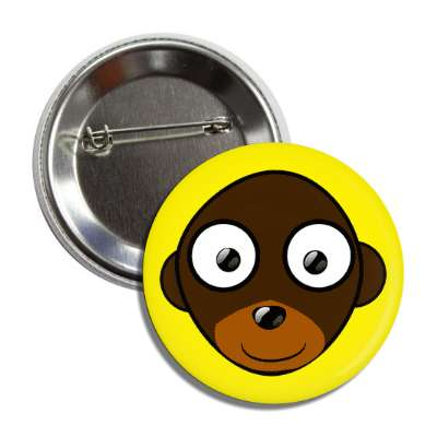 monkey cute cartoon button