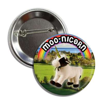 moonicorn cow unicorn button