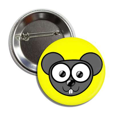 mouse cute cartoon button