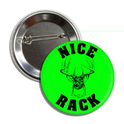 nice rack green black deer joke button