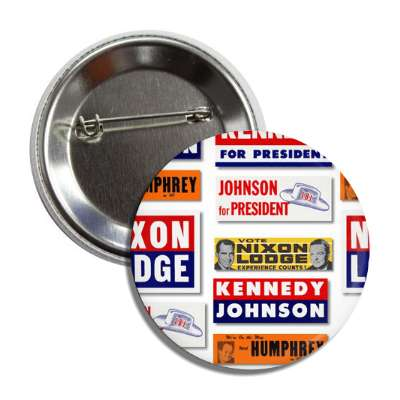 nixon kennedy johnson button